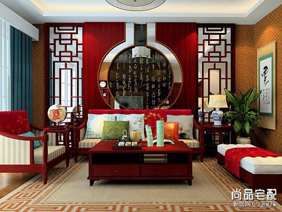现代中式简约布艺沙发