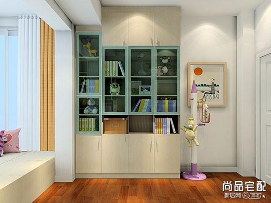 儿童房带书柜