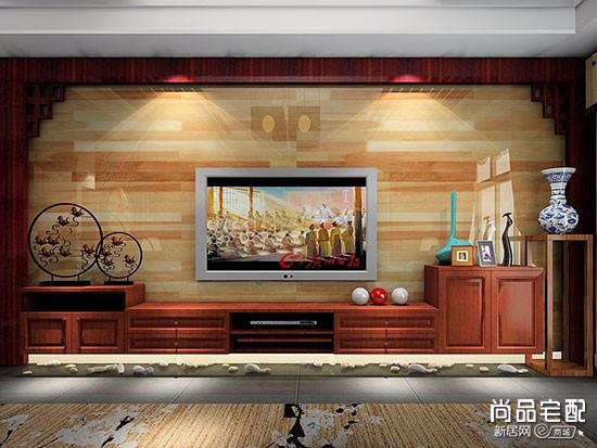 日式白色实木电视柜