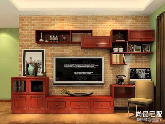 实木玻璃电视柜