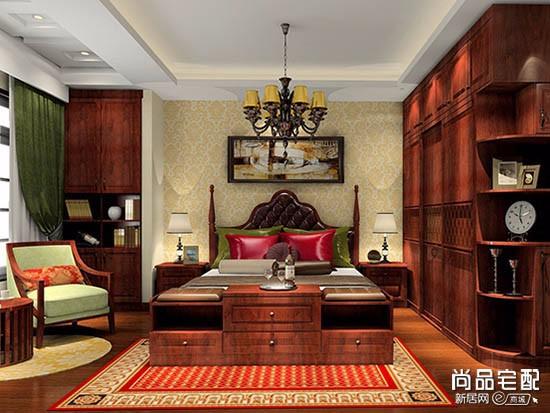 实木榆木床价格图片