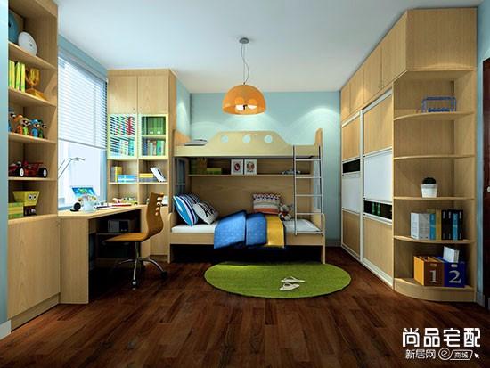 双人儿童房装修实景图