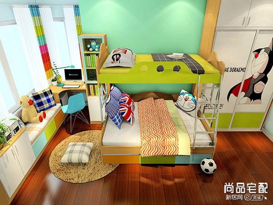 高低儿童房装修效果图