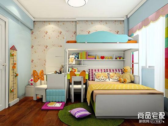 双人儿童房平面布置图