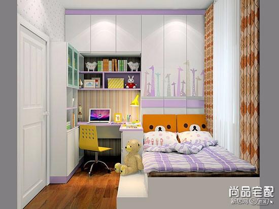 儿童房榻榻米书桌衣柜