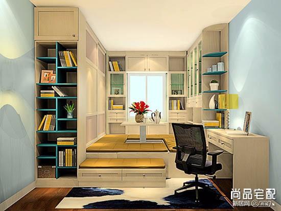 书房榻榻米新中式装修