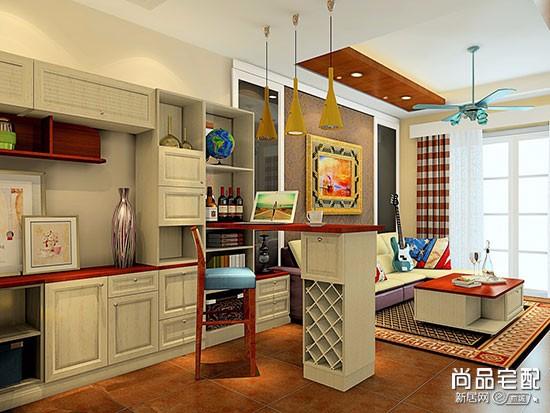 餐厅和客厅隔断酒柜