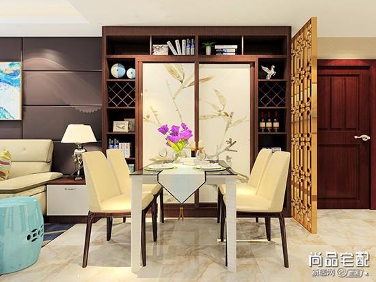 中式高低酒柜