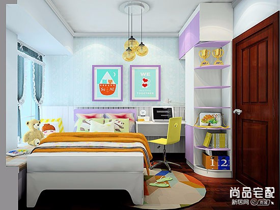 儿童卧室墙纸效果图