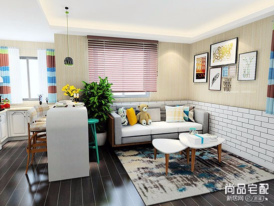 客厅布艺沙发效果图