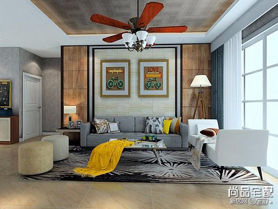 实木布艺沙发效果图