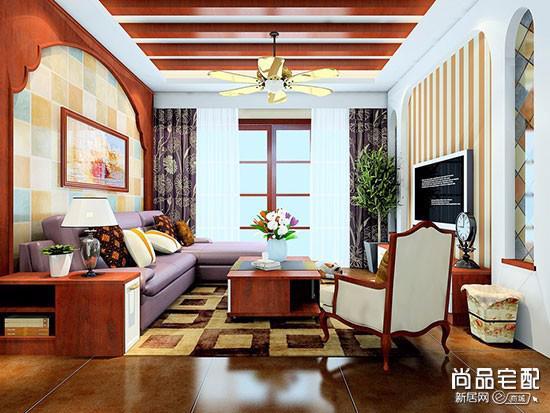 欧式沙发与地毯搭配