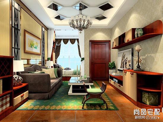 客厅的浅色窗帘