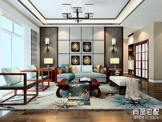新中式吊灯效果图