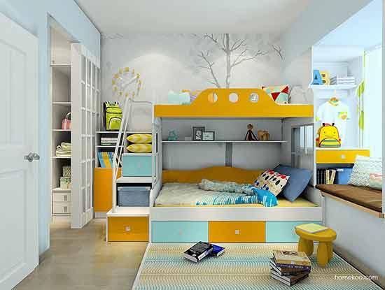双层儿童床图片及价格大全,有了它放心生吧!