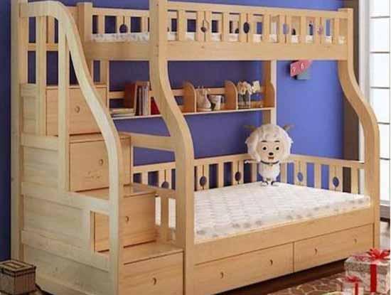 简约实木儿童床图片,父母的不二之选