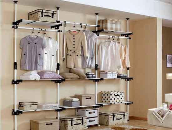 简易衣柜图片大全,给人一种舒适的居家氛围