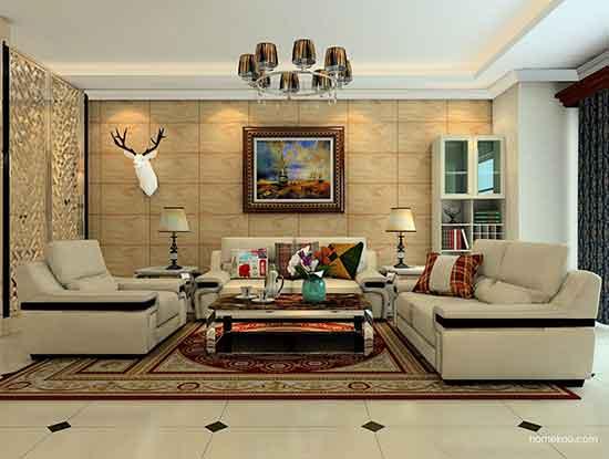 中式沙发图片大全,让你家客厅更加奢华大方