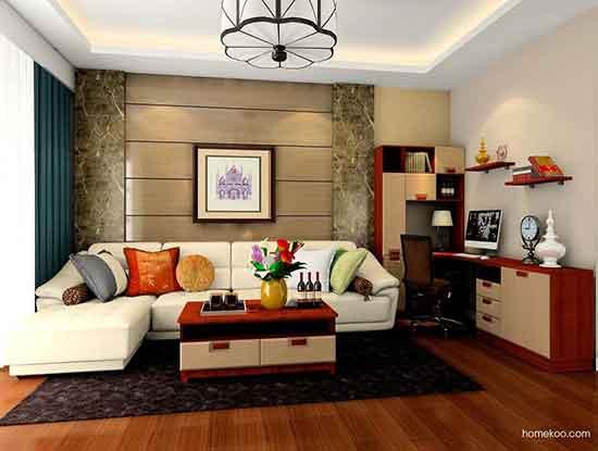 客厅沙发背景墙效果图,客厅果然更大气了
