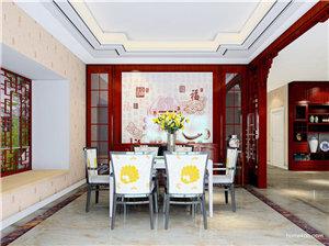 中式餐厅设计效果图,吃饭也要优雅着来