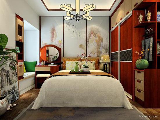 卧室效果图中式风格图片大全