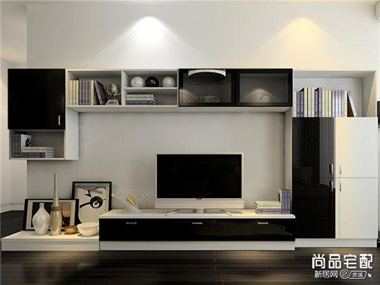 黑色玻璃电视柜效果图大全欣赏
