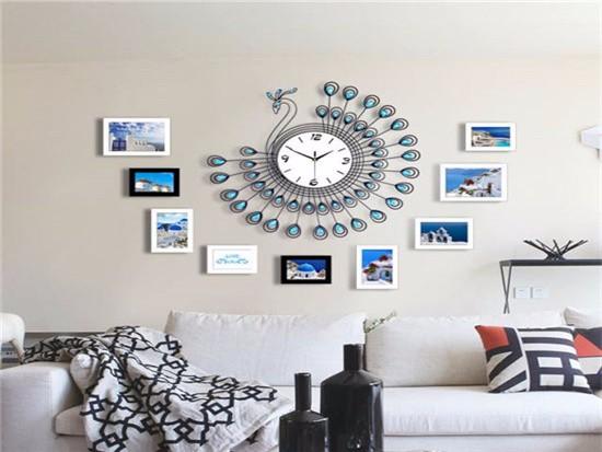 电视墙上的可以挂钟吗