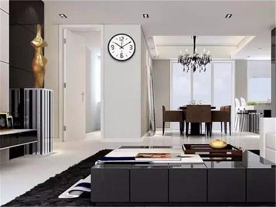 挂钟放在客厅门上