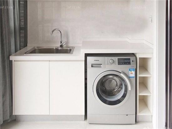 阳台怎么改造放洗衣机