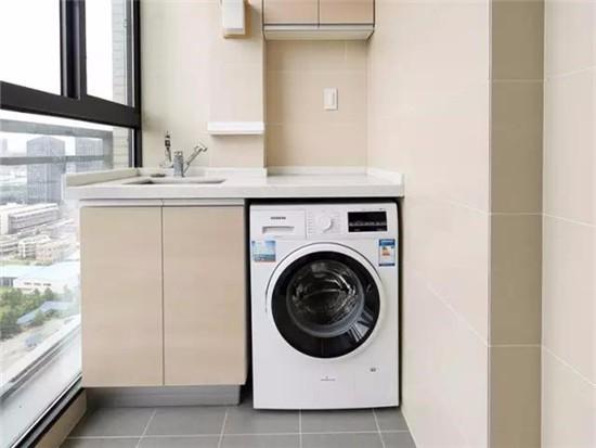阳台房洗衣机怎么铺设