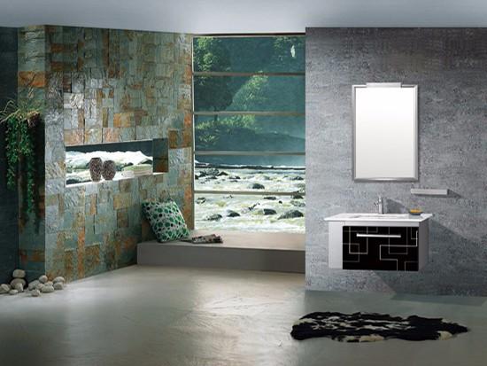 彩色不锈钢浴室柜