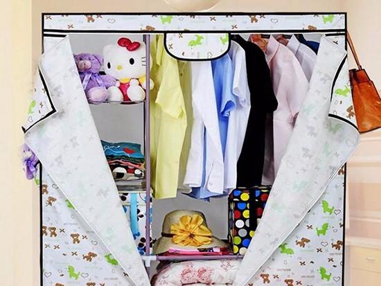 实木简易衣柜