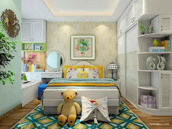 卧室田园装修效果图,美腻的不要不要的