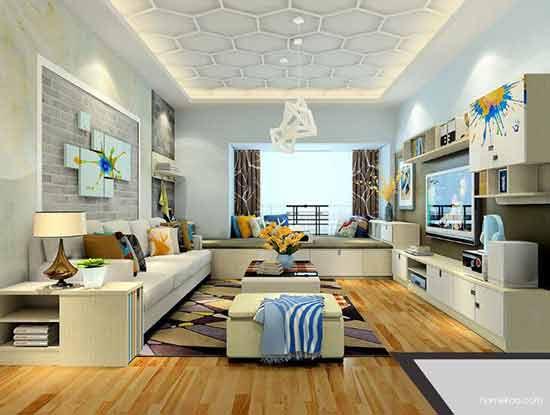 地中海小户型客厅装修,给人不一样的居家体验