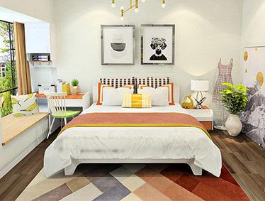 简约板式床屏