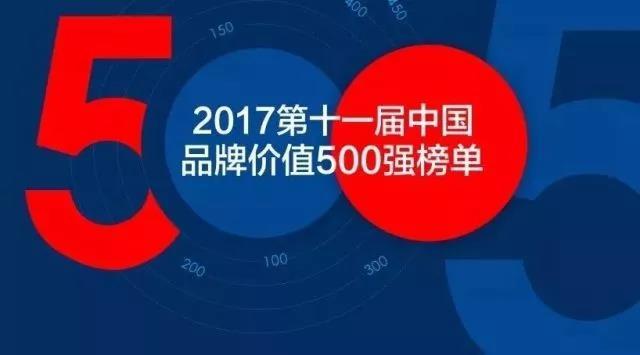 尚品宅配登榜2017中国品牌价值500强