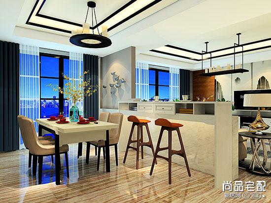 客厅和餐厅隔断效果图设计