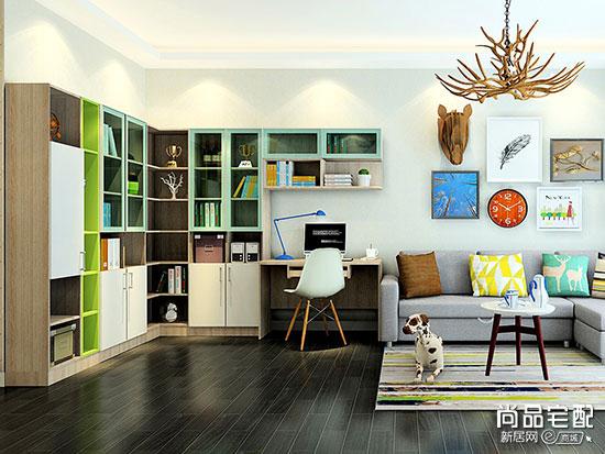 客厅开放式书房效果图设计