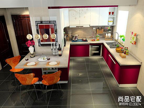 开放式餐厅厨房效果图