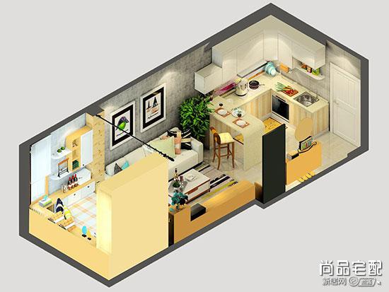 装修效果图开放式厨房效果图