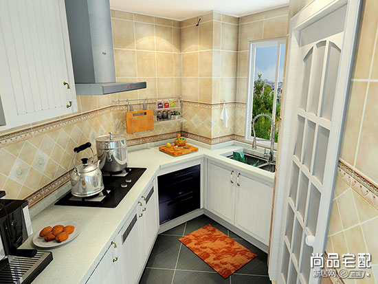 厨房橱柜拐角效果图