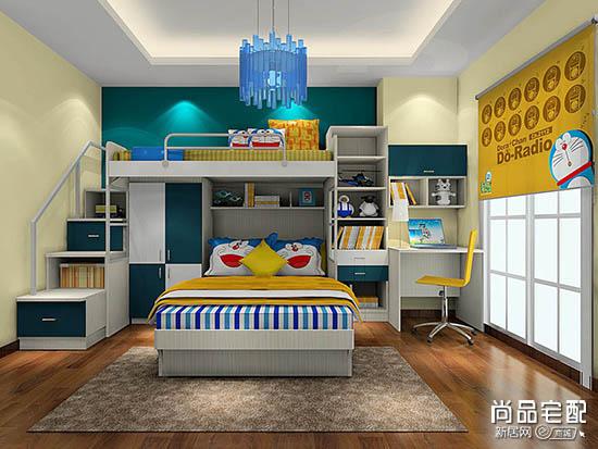 儿童房高低床装修成这样,小孩上床再也不怕了