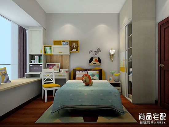 儿童房飘窗书桌效果图,这几种设计方案值得选择!