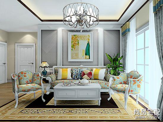 这套现代装修风格客厅的图让家尽显格调