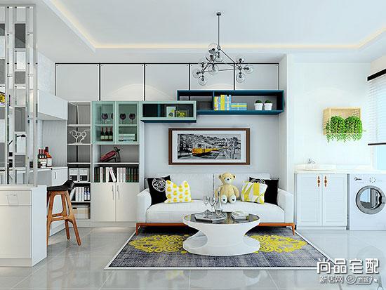 2019最新款小户型客厅简约风格装修效果图