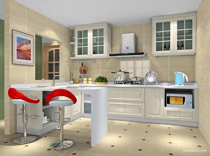 欧式小厨房装修效果图?实用美观兼备