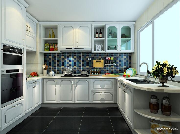 北欧简约风格装修厨房,中西厨房结合美观又实用