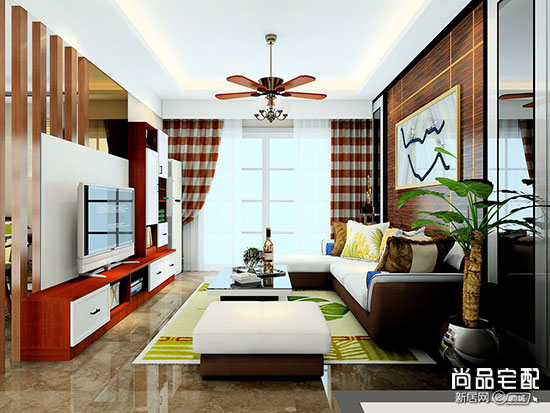 客厅瓷砖电视墙这样做完工后看起来很大气
