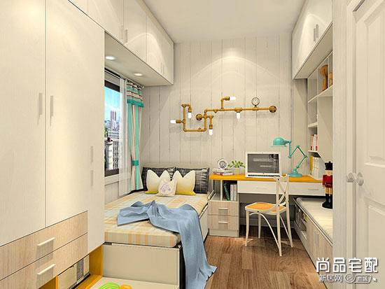 小房间儿童房装修效果图,比你想象中的更省空间!