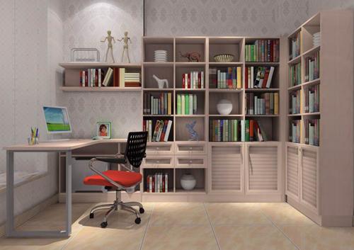 家具解决凹位的书房设计